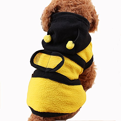 Polar Costume Bear Dog (BBEART Pet Clothes, Cute bees Hoodies Warm Polar Fleece Pet Coat Puppy Costume Apparel)