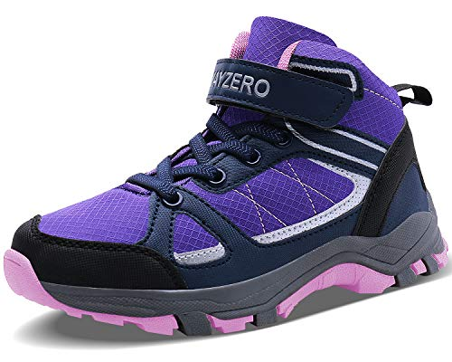 Image of Vivay Kids Girls Hiking Boots Trekking Hiking Shoes Ankle Boots Outdoor Running Sneakers Little Kid Big Kid