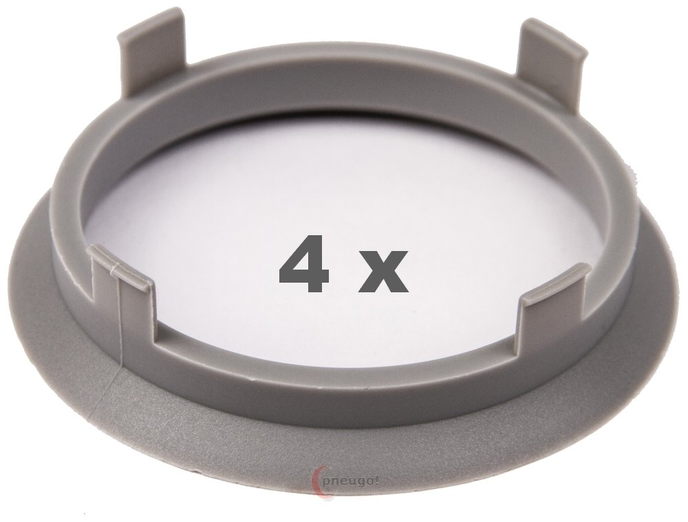 4/X Anello Di Centraggio 60.1/mm a 54.1/mm Grigio chiaro//Light Grey