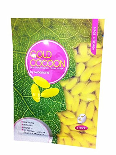 2 Mask Sheets of Gold Cocoon. Skin Brightening Facial Mask, Made in Korea By Watsons. Brightening, Protection, Hydration. No Paraben, Colorant, Alcohol & Mineral Oil. (25 Ml/ - Mask Glasses On Clip