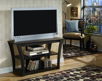Ashley Furniture Signature Design   Ellenton TV Stand   Contemporary   2  Shelves   Brown