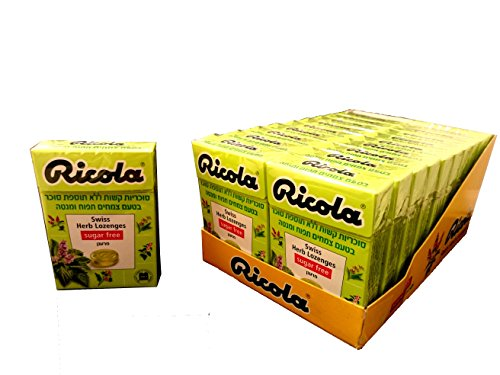 Ricola Sugar Free Apple Mint Flavor Candy Box 20 Pack