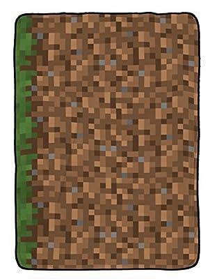 Jay Franco Mojang Minecraft Grass Silk Blanket