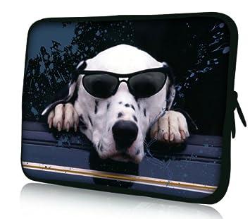Luxburg® Design Funda Blanda Bolso Sleeve para Ordenador Portátil/MacBook de 15,6 pulgadas, motivo: Perro con gafas de sol: Amazon.es: Electrónica