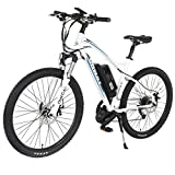 Image of Onway 26 Inch 9 Speed Electric Mountain Bike, 8-Fun 350W Brushless Mid-position Motor, Lithium Battery