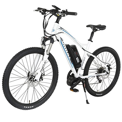 Onway 26 inch 9 speed electric mountain bike 8 fun 350w for Electric bike motor reviews