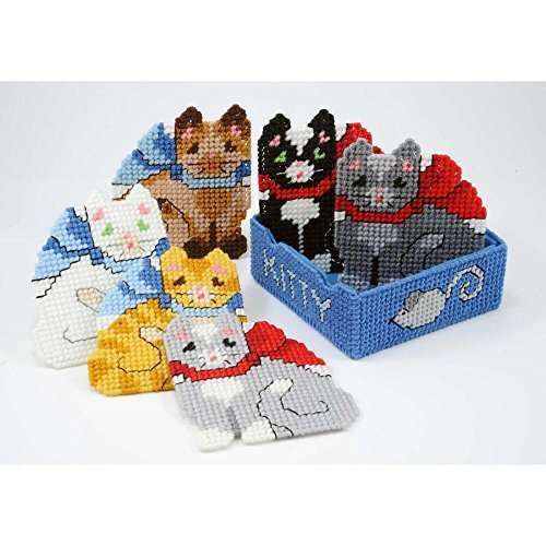 Craftways® Kitten Coasters with Holder Plastic Canvas Kit