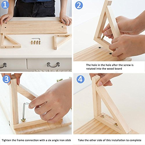 PROKTH Wooden Partition Wall Rack Creative Living Room Decoration Frame Wall Hanging Rack Wall Mounting Shelf