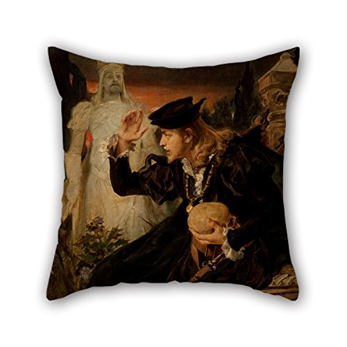 [Oil Painting Pedro Américo - Hamlet's Vision Pillow Covers 20 X 20 Inches / 50 By 50 Cm Best Choice For Festival,lover,chair,office,drawing Room,couch With Double] (Thomas The Train Costume Walmart)