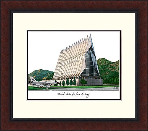 Air Force Academy Lithograph (United States Air Force Academy Legacy Alumni Exquisitely Framed Imprinted Lithograph - 2017 Graduation Diploma Frame )