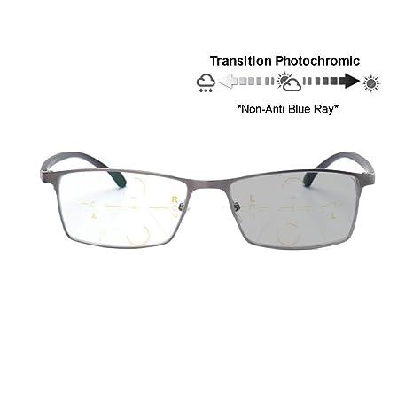 Transición progresiva fotocromatico anti - Blue - Ray gafas de lectura flexible computadora ninguna línea gradual templos UV400… YJVYriaky