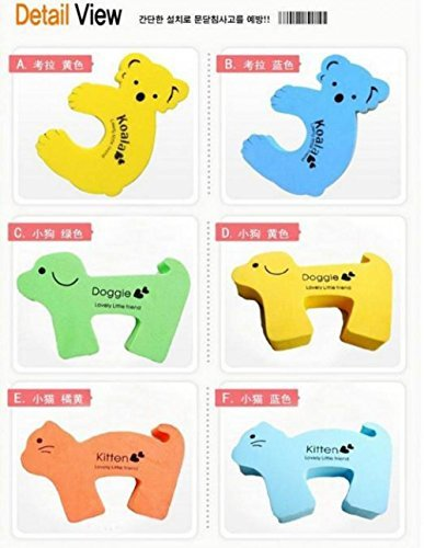 Cartoon Animal Baby Kids Toddler Child Safety Care Security Door Stopper Corner Protector Finger Guards Protection bebo dekoracio produkto by Pbaby (Image #1)