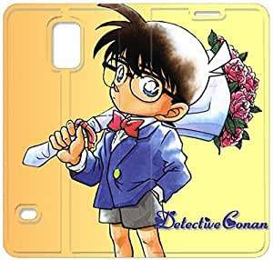 Premium Flip Ultra Slim Detective Conan-10 iPhone Samsung Galaxy S5 Leather Flip Case