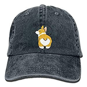 ZMYGH Guess What Corgi Butt Denim Hat Dad Hat Natural: Amazon.es ...
