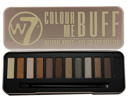 W7's Ultimate Eyeshadow Collection with Natural Nudes and Smokey Shades -  Four Gorgeous, 12-in-1 palette sets: Colour Me Buff + Colour Me Nude + In The Night + Lightly Toasted