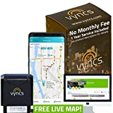 VyncsPro GPS Tracker No Monthly Fee 3G OBD Car Tracker Real Time GPS 1 Year Data Plan Included 60 Seconds GPS, Live Map, Teen Unsafe Driving Alert, Car Health, Recall, Fuel Report (Grey)