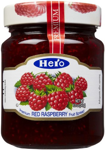 Hero Red Raspberry Premium Fruit Spread 12 Ounce (Hero Jelly)