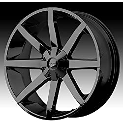 """KMC Wheels KM651 Slide Gloss Black Wheel With Clearcoat (22x9.5""""/6x135, 139.7mm, +15mm offset)"""