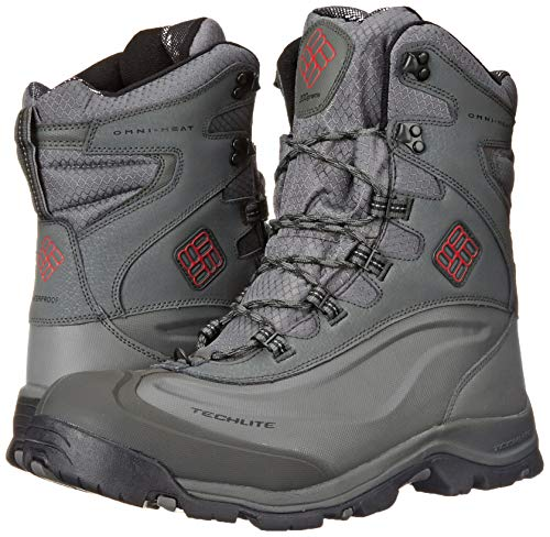 Columbia Men's Bugaboot Plus III Omni Cold Weather Boot, Charcoal/Bright Red, 11 D US