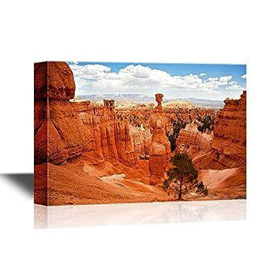 USA Landmarks Canvas Wall Art - Thors Hammer, Bryce Canyon, Utah, USA - Gallery Wrap Modern Home Art | Ready to Hang - 12x18 inches