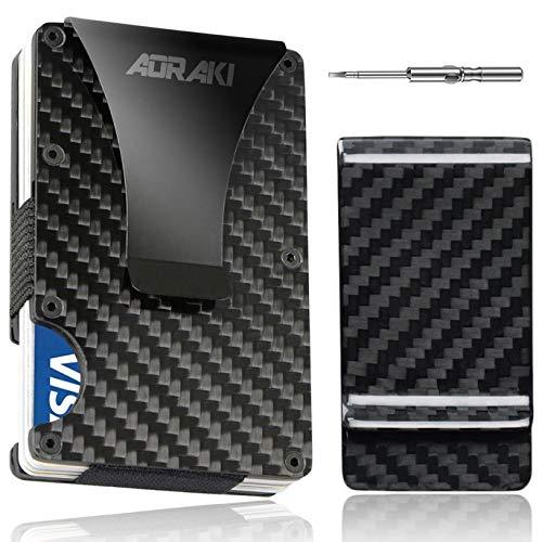3a3d4c78da3c Minimalist Carbon Fiber Wallet - RFID Blocking Slim Wallet and - Import It  All