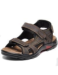 REETENE Men's Summer Velcro Straps Sandals Sports Outdoors Beach Shoes for Men