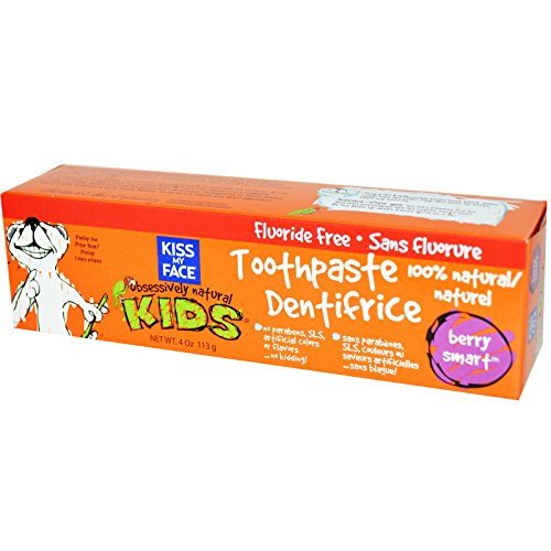 Kiss Kids Obsessively Natural (Kiss My Face, Obsessively Natural Kids, Toothpaste, Berry Smart, 4 oz (113 g) - 3PC)