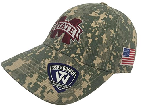- Top of the World Mississippi State Bulldogs Tow Digital Camouflage Flagship Adjustable Hat Cap