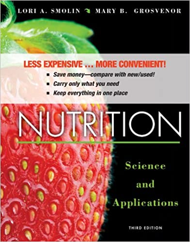 Nutrition Science And Applications 3e Binder Ready Version Wileyplus Registration Card 9781118566794 Medicine Health Science Books Amazon Com