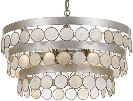 Coco 6 Light Antique Silver Chandelier