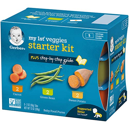 5107dn0b2sL - Gerber Purees My 1st Vegetables, Box Of 6 2 Ounce Tubs (Pack Of 2)