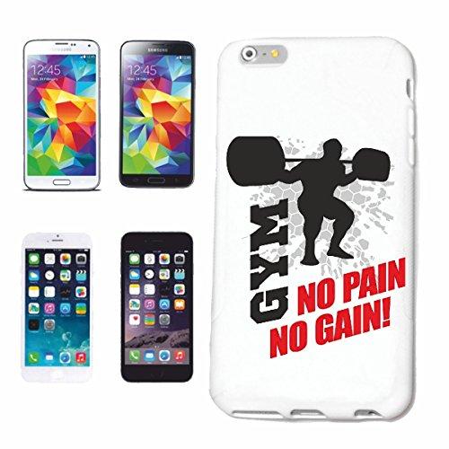 """cas de téléphone iPhone 6S """"NO PAIN NO GAIN GYMNASE BODYBUILDING GYMNASE Musculation GYMNASE muskelaufbau SUPPLEMENTS WEIGHTLIFTING BODYBUILDER"""" Hard Case Cover Téléphone Covers Smart Cover pour Apple"""