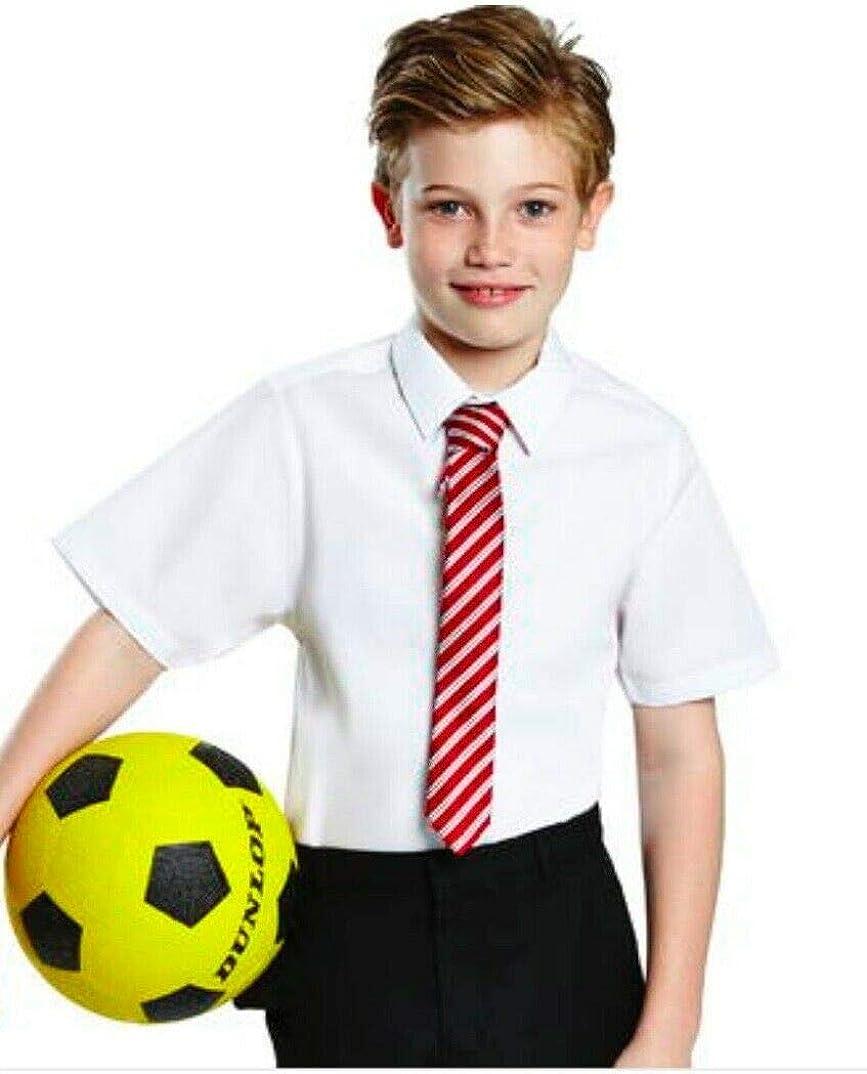 Wei/ß Listers Schoolwear Jungen Hemd Polycotton kurz/ärmelig