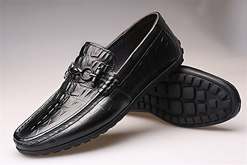 Shoes Casual Casual XIE Shoes 38 Men's 43 Shoes black Seasons Four Shoes Fashion Leather Business ICIRwqFXxB