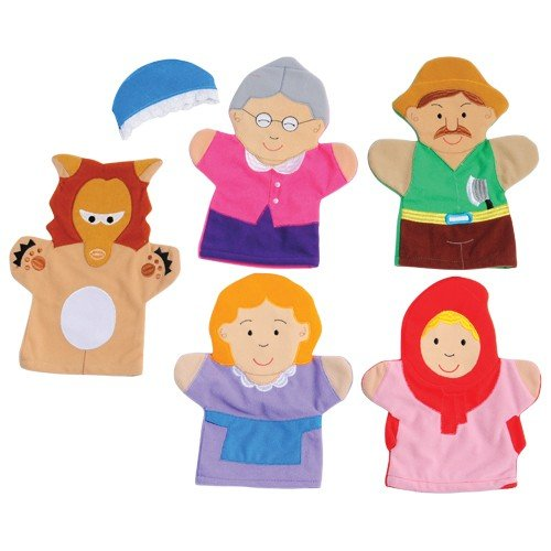 Constructive Playthings SVL-461 Little Red Riding Hood Storytelling Hand Puppets, Grade: Kindergarten to 3, Age: 9.75