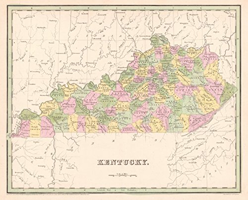 Historic Map | 1841 Kentucky | Bradford, T.G. and S.G. ()