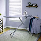 Gymfy International Quality Ironing Board/Iron Table Stand with Press Holder, Foldable & Height Adjustable/Ironing Board with Multi-Function Ironing Table/Ironing Board Covers with Foam pad