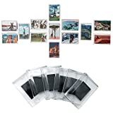 magnet frame fridge - Set of 50 Blank Photo Frame Fridge Magnets by Kurtzy - Quality Clear Acrylic Refrigerator Magnet with Picture Insert Size 7cmx4.5cm - Magnetic Frame Great for Family Photos, art work & Fun for Kids