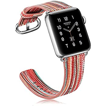 835de031d Fintie Band for Apple Watch 40mm 38mm - Genuine Leather Replacement Wrist  Strap for Apple Watch Series 4 (40mm) / Series 3 2 1 (38mm) All Models Men  & Women ...