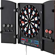 Fat Cat Electronx Electronic Dartboard, Built In Cabinet, Solo Play With Cyber Player, Dual Screen Scoreboard