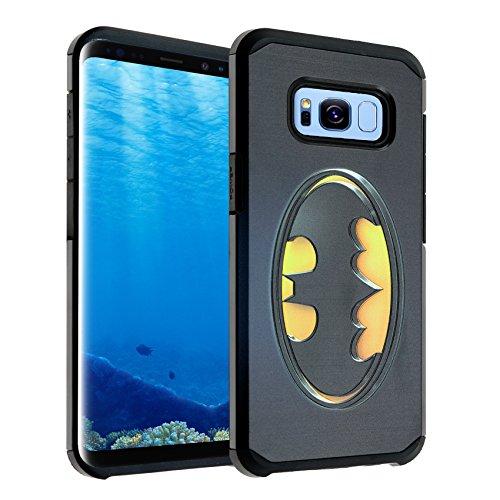 Galaxy S8 Case, IMAGITOUCH 2-Piece Style Slim Fit Armor Case with Dual Layer Protective Cover Air Cushion Design DC Comics Joker Batman for Samsung Galaxy S8 Batman Logo Hybrid