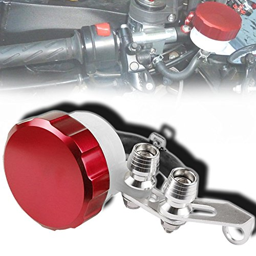Cnc Metal Tail Rotor (CNC T6061 Aluminum Motorcycle Clutch / Brake Reservoir Fluid Tank Bottle Master Cylinder Red)