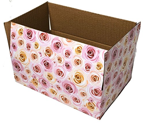 25 9x6x3 Rose Designer Boxes corrugated Cardboard Box Shipping Cartons Mailers Custom Printed Containers #SmileMail Brand (Custom Corrugated Boxes)