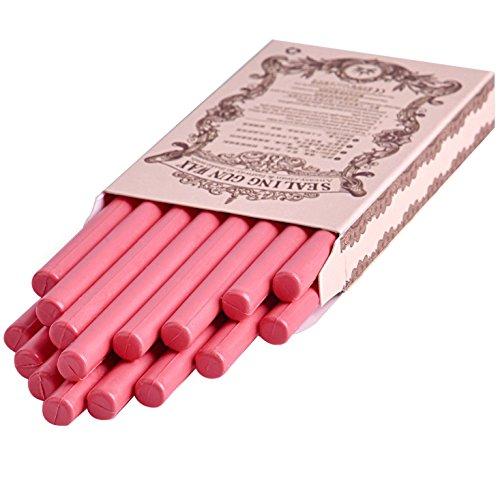 (16pcs/set Pink Color Glue Gun Sealing Wax Stick for Documents Sealing Gift Decoration)