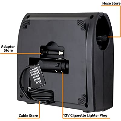 EPAuto 12V DC Auto Portable Air Compressor Pump w/Digital Tire Inflator and Preset Pressure Shut Off Gauge for Compact/Midsize Sedan SUV: Automotive
