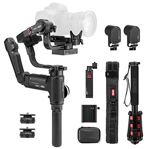 Zhiyun Crane 3 LAB 3-Axis Handheld Stabilizer Gimbal for Mirrorless/DSLRs Cameras and Smartphone,1.10lbs-9.92lbs Payload (Crane 3 Creator Package)