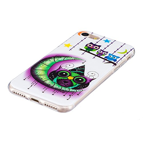 Noctilucent IMD TPU Phone Tasche Hüllen Schutzhülle - Case für iPhone 7 4.7 - Owls, Moon and Stars