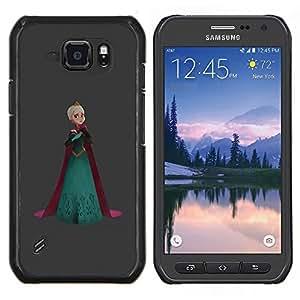 TECHCASE---Cubierta de la caja de protección para la piel dura ** Samsung Galaxy S6 Active G890A ** --Princesa corona de la reina del arte Rubio Robe
