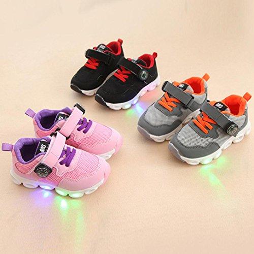 IGEMY LED leuchten leuchtende Turnschuhe, Kleinkind Kids Mesh Schuhe Kinder Baby Schuhe Rosa
