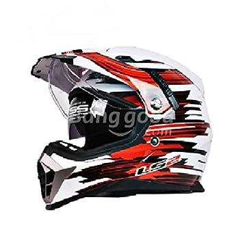 Poseidon Ece doble lente casco cascos motocross motocicleta para LS2